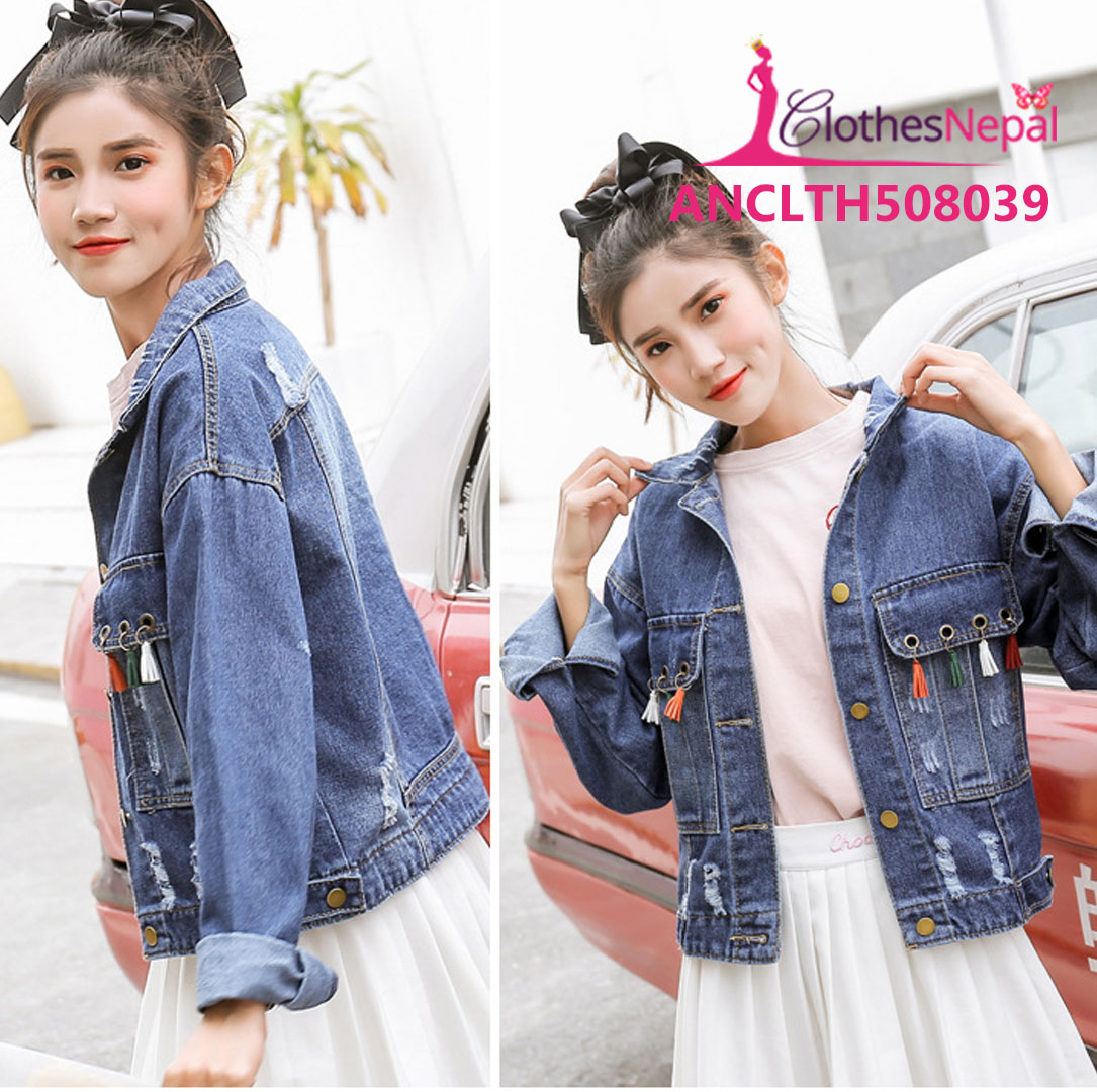 Buy Autumn New Denim Jacket Female Personality Tassel Jacket In