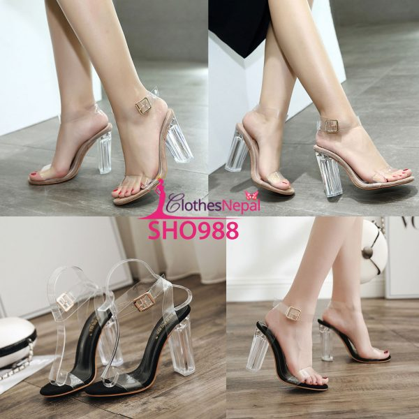 women's pointed thick with large size sandals suitable for